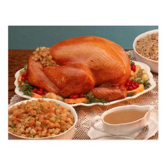 Thanksgiving spread postcard