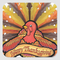 Thanksgiving Square Stickers