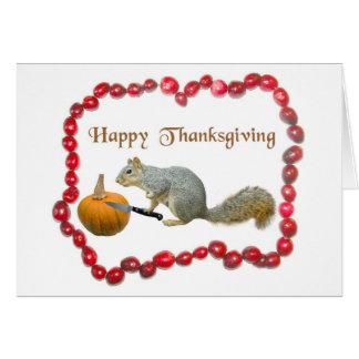 Thanksgiving Squirrel Card