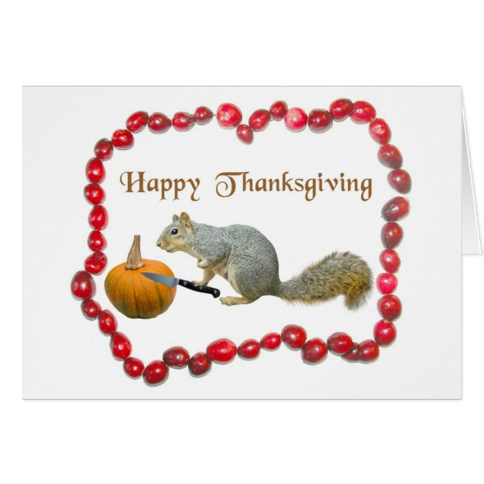 Thanksgiving Squirrel Card
