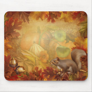 Thanksgiving Squirrel Mouse Pad