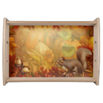 Thanksgiving Squirrel Serving Tray