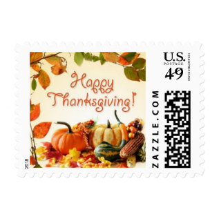 Thanksgiving Stamp at Zazzle