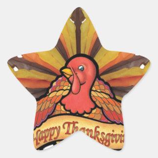 Thanksgiving Star Sticker