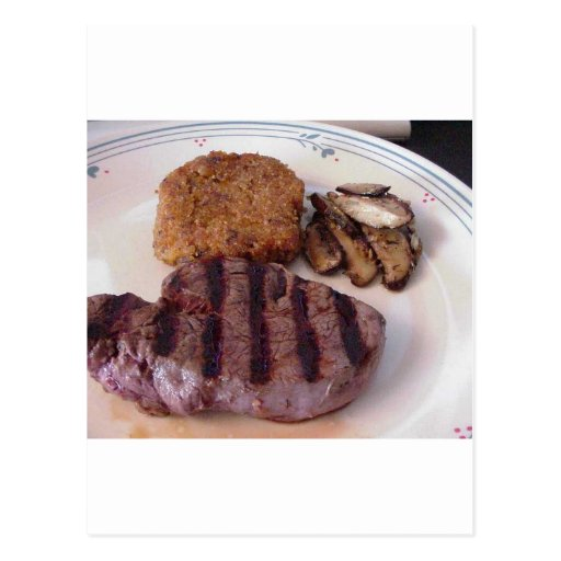 Thanksgiving Steak Risotto Postcards