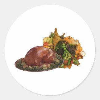 Thanksgiving Round Stickers