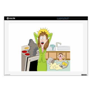 "Thanksgiving Stressed Mom 17"" Laptop Skins"
