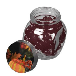 Thanksgiving table glass jar
