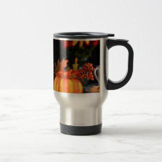 Thanksgiving table travel mug