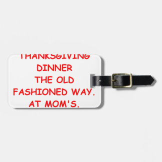 thanksgiving tag for luggage