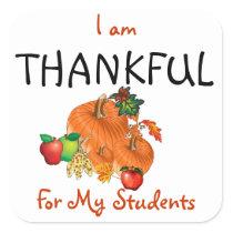 THANKSGIVING TEACHER STICKERS