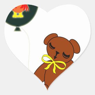 Thanksgiving Teddy Bear w Turkey Balloon Sticker
