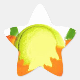 Thanksgiving Tennis Ballh Star Sticker