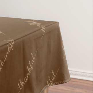 Thanksgiving Thankful Cloth Tablecloth