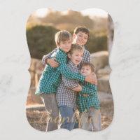 Thanksgiving Thankful custom photo card
