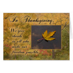 Thanksgiving Thanks to Service-Person Autumn Leaf Greeting Card
