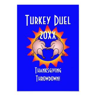 Thanksgiving Throwdown Turkey Duel Commemorative 5x7 Paper Invitation Card