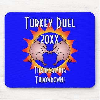 Thanksgiving Throwdown Turkey Duel Commemorative Mouse Pad