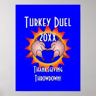 Thanksgiving Throwdown Turkey Duel Commemorative Posters