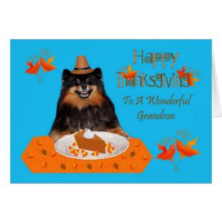 Thanksgiving To Grandson Greeting Card
