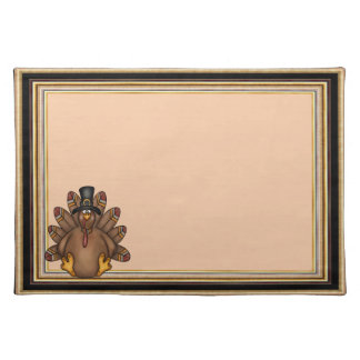 Thanksgiving Tom Turkey Holiday Cloth Placemat