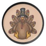 Thanksgiving Tom Turkey Holiday Dinner Plate