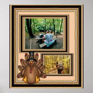 Thanksgiving Tom Turkey Photo Template Poster