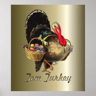 Thanksgiving Tom Turkey Poster