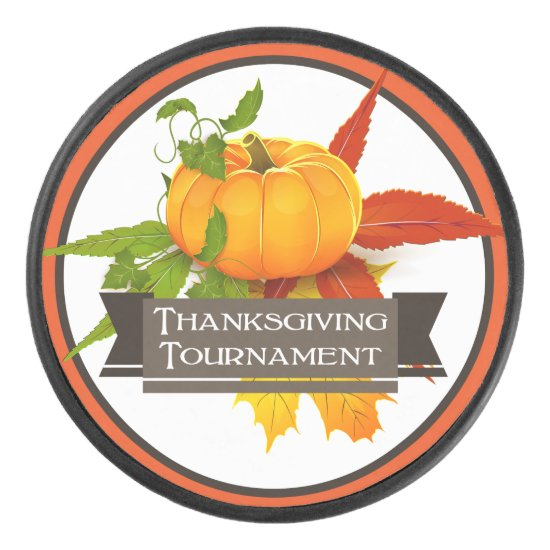 Thanksgiving Tournament, Pumpkin Ice Hockey Puck