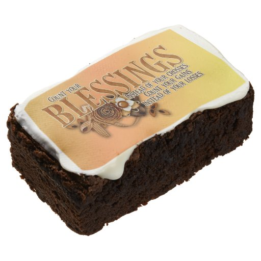 Thanksgiving Rectangular Brownie