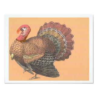 Thanksgiving Turkey 4.25x5.5 Paper Invitation Card