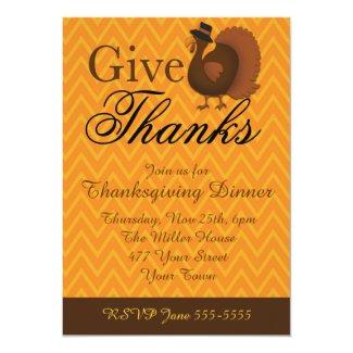 Thanksgiving Turkey 5x7 Paper Invitation Card