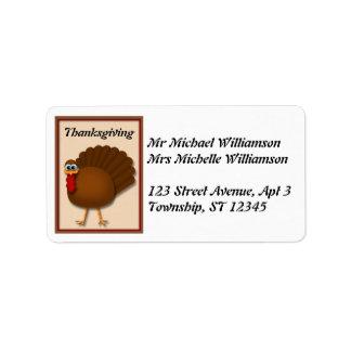 Thanksgiving Turkey Address Labels