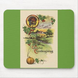 Thanksgiving Turkey Autumn Scene Mouse Pad