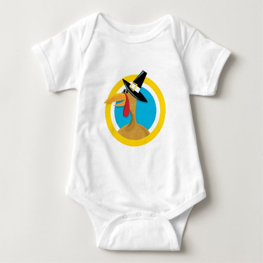 Thanksgiving Turkey Baby Bodysuit
