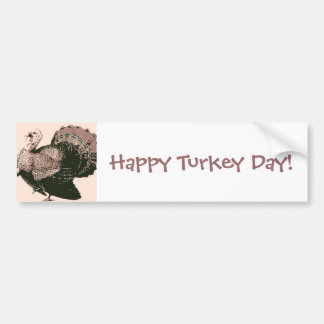 Thanksgiving Turkey Bumper Sticker