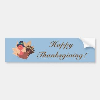 Thanksgiving Turkey Car Bumper Sticker