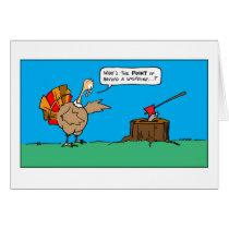 Thanksgiving turkey cartoon card