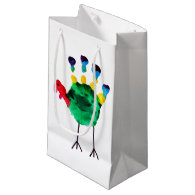 Thanksgiving Turkey Child Art Small Gift Bag