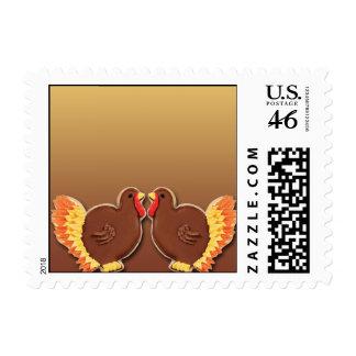 Thanksgiving Turkey Cookie Postage
