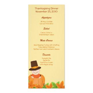 Thanksgiving Turkey Day Customized Menu Card