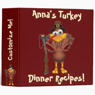 Thanksgiving Turkey Dinner Binder Binder