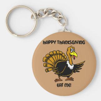 Thanksgiving turkey dinner keychain