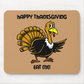 Thanksgiving turkey dinner mouse pad