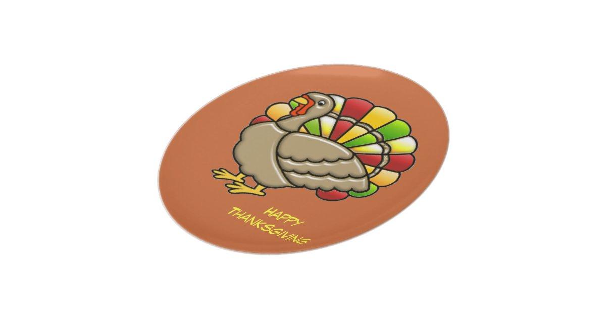 Thanksgiving Turkey Dinner Plate | Zazzle