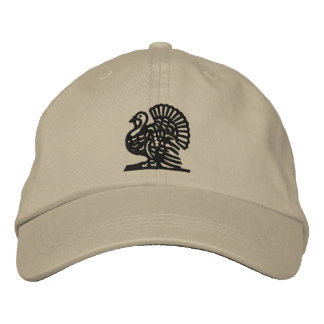 Thanksgiving Turkey Embroidered Baseball Cap
