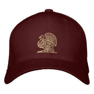 Thanksgiving Turkey Embroidered Baseball Hat