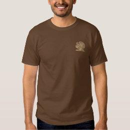 Thanksgiving Turkey Embroidered T-Shirt