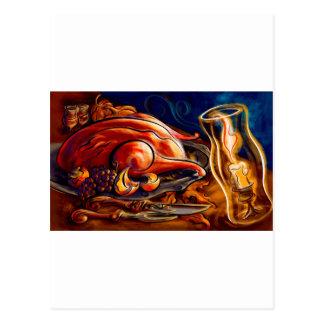Thanksgiving Turkey Feast Postcard