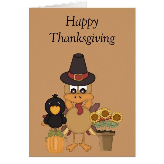 Thanksgiving Turkey Friends Card